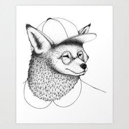 Hipster Fox Art Print