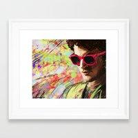darren criss Framed Art Prints featuring Colourful Darren Criss by Ines92