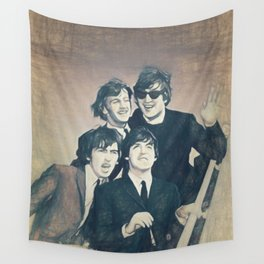 Beatle - John, Paul, George, and Ringo Wall Tapestry