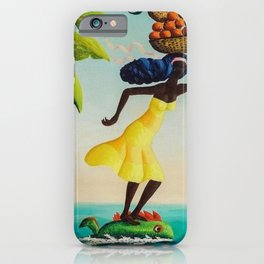 African American Masterpiece 'Fast Express' by O. Bulman iPhone Case