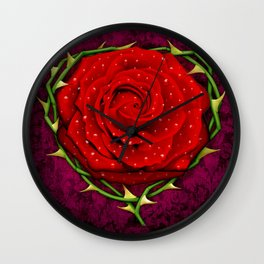 Dangerous Rose  Wall Clock