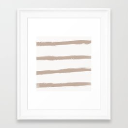 Medium Brush Strokes Horizontal  Nude on Off White Framed Art Print