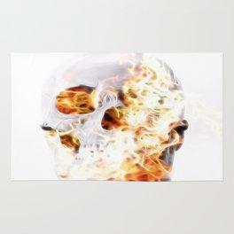 firey skull Rug
