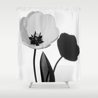 tulip Shower Curtains featuring Tulip  by Wild Roots Photography & Artwork
