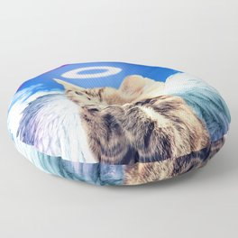 rainbow cat Floor Pillow