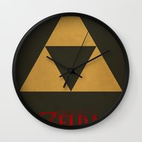 triforce Wall Clocks featuring Triforce by Jynxit