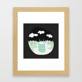 Japanese Fairy Tale \\ Piece 2 Framed Art Print