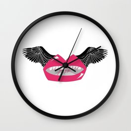 With Wings. Wall Clock