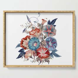 Morning Glories Flower Bouquet Serving Tray
