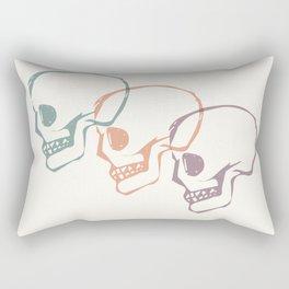 Triplet Skulls Rectangular Pillow