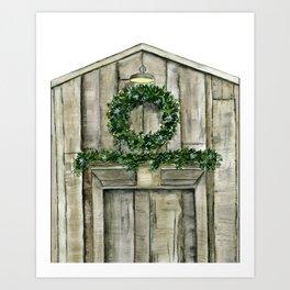 Winter Barn Art Print