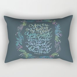 You Are My Hiding Place - Psalm 32:7 Rectangular Pillow