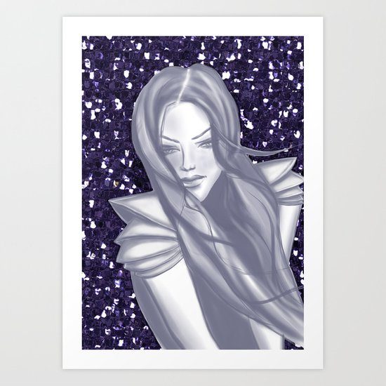 Sapphire Woman Art Print