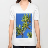 coconut wishes V-neck T-shirts featuring Coconut Peaks by Tom Lee