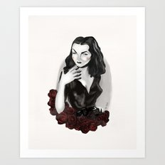 Maila Nurmi (Vampira) Art Print