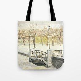Locks on Little Lovers Bridge Tote Bag