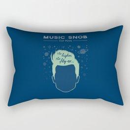 The Higher, The Fly-er — Music Snob Tip #074 Rectangular Pillow
