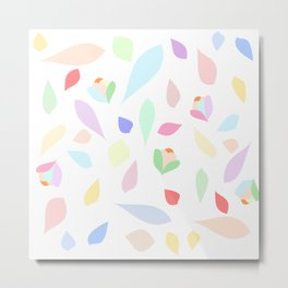 Colorful pastel leaves Metal Print