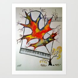 Fall Piano Art Print