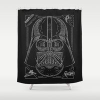 vader Shower Curtains featuring Vader by Jon Deviny