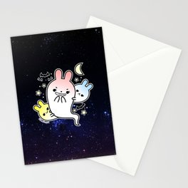 naughty halloween bunny ghost Stationery Cards