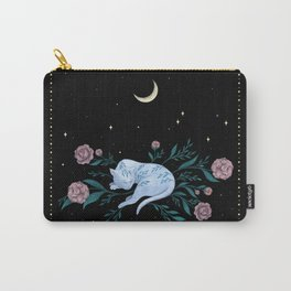 Cat Dreaming of the Moon Carry-All Pouch