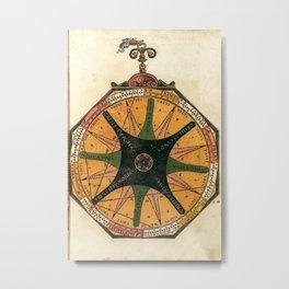 Peter Apian - Astronomicum Caesareum 1540 - Plate 34 The Relationship between Medicine and Astronomy Metal Print