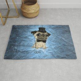 Pug; Gentle Pug (color version) Rug