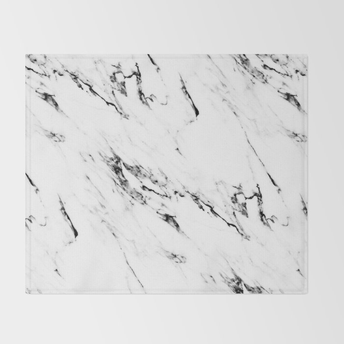 Classic Marble Throw Blanket