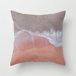 Pink Shores Throw Pillow