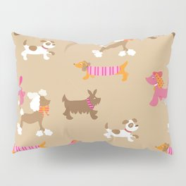 Walkies, Poodles, Sausage dogs and Terriers Pillow Sham