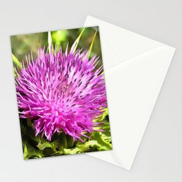 Purple Thistle Wildflower Stationery Cards