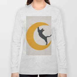 Moon and Cat Long Sleeve T-shirt