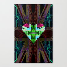 circuit board Flag, Union Jack. Canvas Print