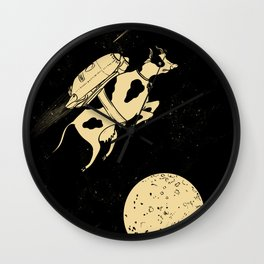 Space Cow Wall Clock