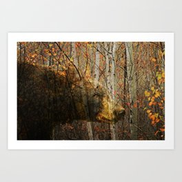The Forest Bear Art Print