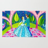 cinderella Area & Throw Rugs featuring Cinderella by Sandra Nascimento