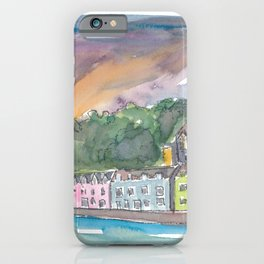 Portree Isle of Skye Scotland Sunset iPhone Case