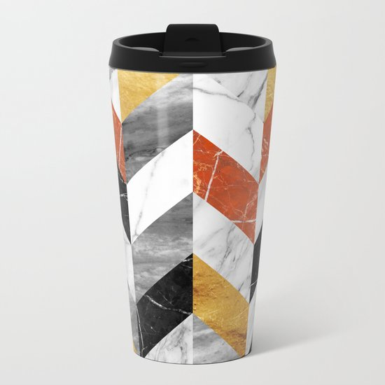 Marble pattern Metal Travel Mug