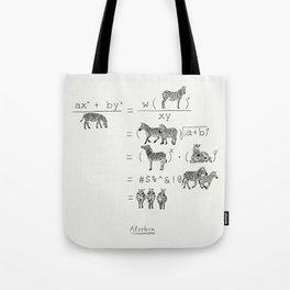 Alzebra Tote Bag