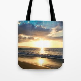 Poolenalena Beach Sunset Makena Maui Hawaii Tote Bag