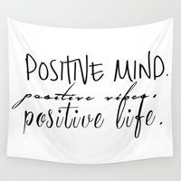 positive Wall Tapestries featuring Positive by Lucy Helena