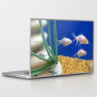 swimming Laptop & iPad Skins featuring Swimming by Jenna Allensworth