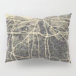 Cleveland map Pillow Sham
