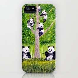 Giant Panda Bears - Hey It's Time To Eat iPhone Case