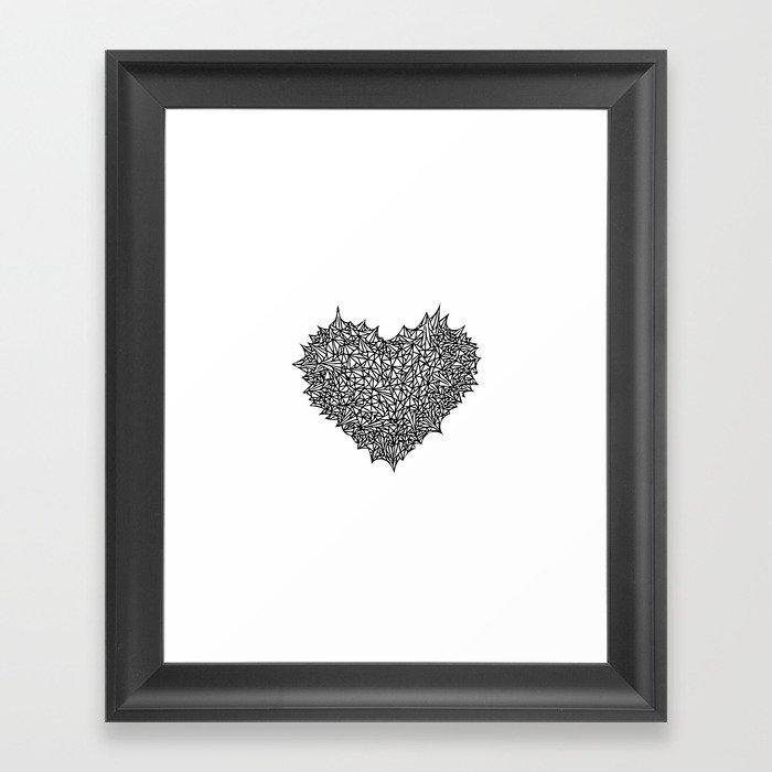 The Heart of Thorns Framed Art Print