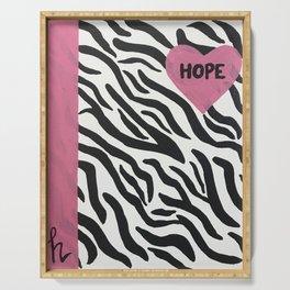 Zebra Hope Serving Tray