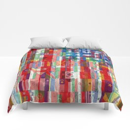 American Flags Of The World 2 Comforters