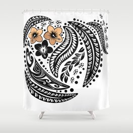 Polynesian Tribal Shower Curtain