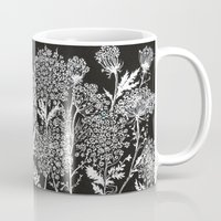 alisa burke Mugs featuring queen anne's lace by Alisa Burke